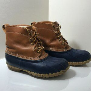 Vintage LL BEAN Womens LaceUp Blue Duck Boots